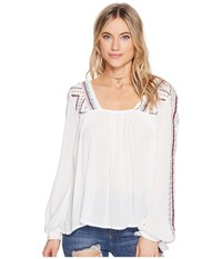 O'neill Sidra Woven Top White Women's Long Sleeve Pullover
