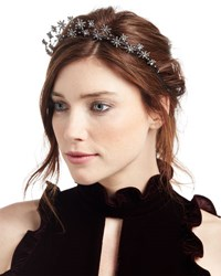 Jennifer Behr Starlight Crystal Headband Dark Gray