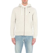 Ralph Lauren Zip Up Cotton Blend Hoody Light Sport Heather
