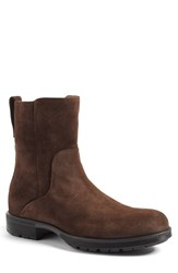 Aquatalia By Marvin K Men's 'Logan' Zip Boot Rusty Brown Suede