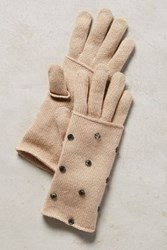 Anthropologie Gleaming Luray Gloves Brown