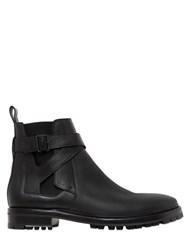 Lanvin Leather Jodhpur Ankle Boots