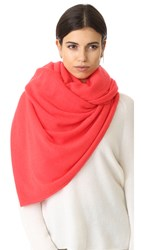 White Warren Cashmere Travel Wrap Scarf Dragon Fruit Heather