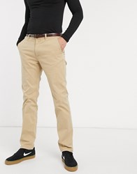 Scotch And Soda Slim Fit Chinos Beige