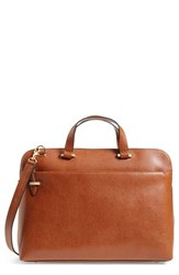Lodis Medium Jamie Rfid Leather Briefcase Brown Camel