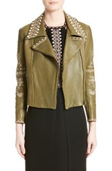 Yigal Azrouel Women's Embellished Leather Moto Jacket
