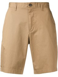 Michael Kors Collection Tailored Chino Shorts Brown