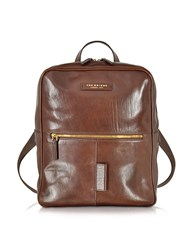 The Bridge Passpartout Marrone Leather Backpack Brown
