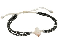 Chan Luu 6 1 3 Adjustable Seed Bead Single W Shell Charm Dark Grey Bracelet Gray
