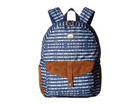 Roxy Carribean Blue Depths Olmeque Stripe Backpack Bags