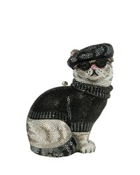 Crystal Beatnik Cat Minaudiere Jet Multi Judith Leiber Couture