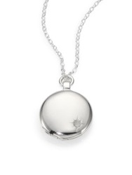 Astley Clarke Sterling Silver Astley Locket Necklace