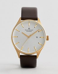 Accurist Brown Leather Watch