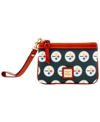 Dooney And Bourke Pittsburgh Steelers Exclusive Wristlet Black