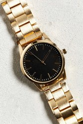 Urban Outfitters Brushed Metal Bracelet Watch Gold