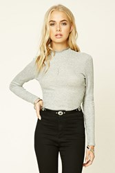 Forever 21 Marled Knit Crop Top