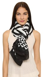 Theodora And Callum Zuma Scarf Black Multi