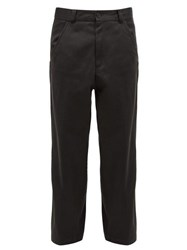 Haider Ackermann Cotton Twill Straight Leg Trousers Grey