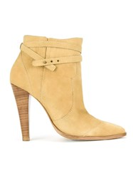 Talie Nk Pointed Toe Ankle Boots Beige