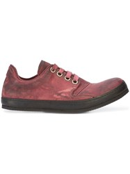 A Diciannoveventitre Low Top Sneakers Calf Leather Red