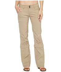 Prana Halle Convertible Pants Dark Khaki Women's Casual Pants