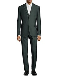 Valentino Notch Lapel Buttoned Suit Anthracite