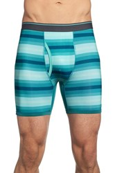 Men's The Rail Teal Stripe Boxer Briefs 3 For 25