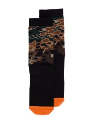 11 By Boris Bidjan Saberi Camouflage Socks Black