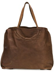 Guidi Structured Tote Bag Brown