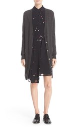 Grey Jason Wu Women's Double Placket Long Wool Cardigan
