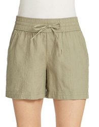 Lord And Taylor Petite Linen Shorts Cavalry Green
