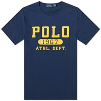 Polo Ralph Lauren Flock Logo Tee Blue