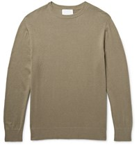 Handvaerk Pima Cotton And Silk Blend Sweater Green