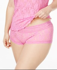 Hanky Panky Plus Size Boyshorts 481281X Enchanted Pink