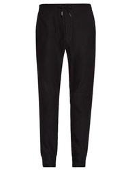 John Varvatos Leather Trim Cotton Jersey Track Pants