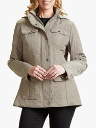 Four Seasons Polar Quilted Fleece Jacket Taupe