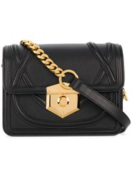 Alexander Mcqueen Foldover Top Crossbody Bag Black