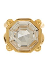Louise Et Cie Jewelry Octagon Stone Double Band Ring Size 7 Metallic