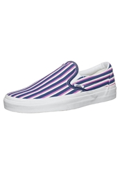 Vans Classic Slipons Multi Stripes Blue Radiant Orchid Dark Blue