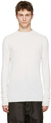 Rick Owens White Level Lupetto Pullover