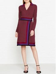 Hobbs Frida Printed Shirt Dress Raspberry