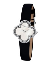 Vintage Alhambra White Gold Watch Small Van Cleef And Arpels White Gold