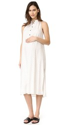 Hatch The Medina Dress Ivory Black Painted Diamond