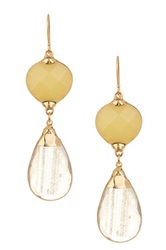 Janna Conner Aurelie Honey Jade And Sun Stone Earrings No Color