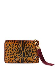 Brian Atwood Awinfred Calf Hair Pouch Leopard