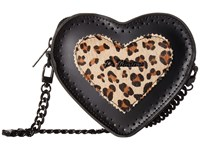 Dr. Martens Heart Purse Black Medium Leopard Smooth Italian Hair On Bags Black Medium Leopard Smooth Italian Hair On