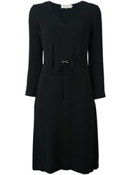 L'autre Chose Belted Midi Dress Black