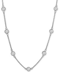 Giani Bernini Cubic Zirconia Bezel Set Statement Necklace In Sterling Silver Only At Macy's