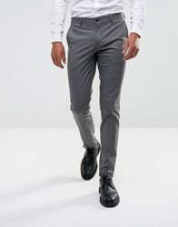 Selected Homme Skinny Smart Pants In Dogstooth Gray