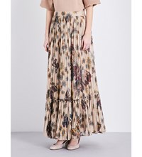 Valentino Butterfly Print Tulle Maxi Skirt Multi